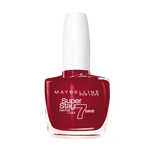Maybelline superstay gel nail color 7 days 006 deep red